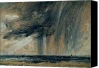 Stormy Canvas Prints - Rainstorm over the Sea Canvas Print by John Constable