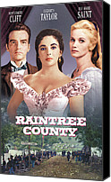 1957 Movies Canvas Prints - Raintree County, Montgomery Clift Canvas Print by Everett