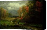 Albert Canvas Prints - Rainy Day in Autumn Canvas Print by Albert Bierstadt
