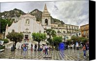 Taormina Canvas Prints - Rainy Day in Taormina 2 Canvas Print by Madeline Ellis