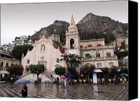 Taormina Canvas Prints - Rainy Day in Taormina Canvas Print by Madeline Ellis