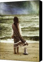 Long Hair Canvas Prints - Rainy Day Canvas Print by Joana Kruse