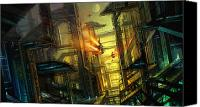 Science Fiction Mixed Media Canvas Prints - Raison Detre Canvas Print by Philip Straub