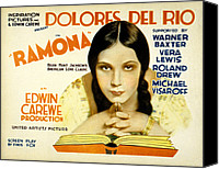 Del Rio Photo Canvas Prints - Ramona, Dolores Del Rio, 1928 Canvas Print by Everett