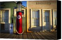 Old Buildings Canvas Prints - Randsburg Pump Canvas Print by Mike Hill