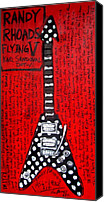 Sandoval Canvas Prints - Randy Rhoads Flying V Canvas Print by Karl Haglund