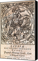 Saint Christopher Canvas Prints - Rantzaus Astrology Book, 1584 Edition Canvas Print by Middle Temple Library