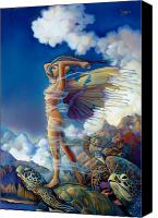 Featured Painting Canvas Prints - Rapture and the Ecstasea Canvas Print by Patrick Anthony Pierson