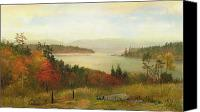 Turning Painting Canvas Prints - Raquette Lake Canvas Print by Homer Dodge Martin