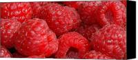 Food Canvas Prints - Raspberries Canvas Print by Mark Platt