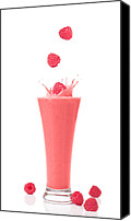 Splashes Canvas Prints - Raspberry and Strawberry Smoothie Canvas Print by Christopher Elwell and Amanda Haselock