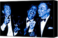 Singer Digital Art Canvas Prints - Rat Pack at Carnegie Hall Canvas Print by Dean Caminiti