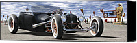 66 Canvas Prints - Rat Rod On Route 66 2 Canvas Print by Mike McGlothlen