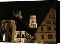 Rathaus Photo Canvas Prints - Rathaus am Abend Canvas Print by Devin Hyde