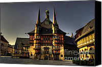 Rathaus Photo Canvas Prints - Rathaus at Wernigerode Canvas Print by Rob Hawkins