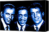 Singer Digital Art Canvas Prints - Ratpack Canvas Print by Dean Caminiti