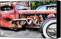 Old Trucks Canvas Prints - Ratrod Rust Canvas Print by Tony  Bazidlo