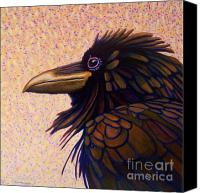 Ravens Canvas Prints - Raven Shaman Canvas Print by Brian  Commerford