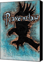 Eagle Drawings Canvas Prints - Ravenclaw Eagle Canvas Print by Jera Sky
