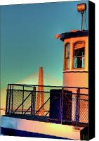 Ravenel Bridge Canvas Prints - Ravenel Ferry Canvas Print by Drew Castelhano