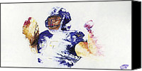 Athletic Painting Canvas Prints - Ray Rice Canvas Print by Ash Hussein