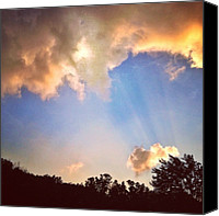 Pink Canvas Prints - Rays Of Light Like Wings Of Angels Canvas Print by Amber Flowers