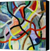 Mosaic Glass Art Canvas Prints - Razzle Dazzle Canvas Print by Charles McDonell