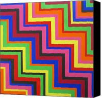 Groovy Painting Special Promotions - Razzmatazz Canvas Print by Oliver Johnston