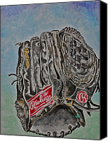 Glove Painting Canvas Prints - RBG 36 B Ken Griffey Jr. Canvas Print by Jame Hayes