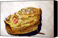 Glove Painting Canvas Prints - RBG 36 Dale Murphy  Canvas Print by Jame Hayes