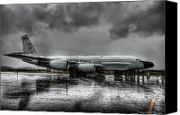 Jet Canvas Prints - Rc-135vw Canvas Print by Ryan Wyckoff