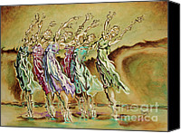 Dancers Canvas Prints - Reach Beyond Limits Canvas Print by Karina Llergo Salto