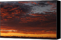 Sunset Digital Art Canvas Prints - Reach for the Sky 12 Canvas Print by Mike McGlothlen