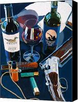 Wine Art Canvas Prints - Reached the Limit Canvas Print by Christopher Mize