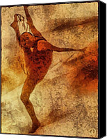 Dancer Digital Art Canvas Prints - Reaching for the limit Canvas Print by Gun Legler