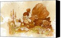 Victorian Canvas Prints - Reading Canvas Print by Brian Kesinger
