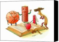 Reading Canvas Prints - Reading  Canvas Print by Kestutis Kasparavicius