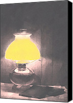 Oil Lamp Canvas Prints - Reading Lamp Canvas Print by One Rude Dawg Orcutt