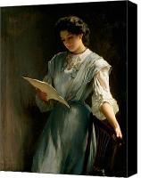 Pretty Painting Canvas Prints - Reading the Letter  Canvas Print by Thomas Benjamin Kennington