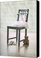 Tulle Canvas Prints - Ready For Ballet Lessons Canvas Print by Joana Kruse