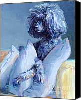 Puppy Canvas Prints - Ready For Her Closeup Canvas Print by Kimberly Santini
