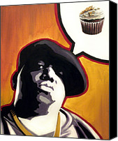 Hip-hop Canvas Prints - Ready To Bake - Notorious B.I.G. Canvas Print by Ryan Jones