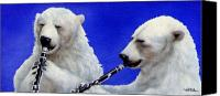 Polar Bear Canvas Prints - Real Cool Jazz... Canvas Print by Will Bullas