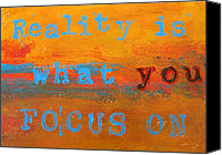 Subject Poster Art Canvas Prints - Reality is Canvas Print by Patricia Awapara