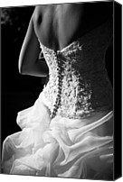 Rear Canvas Prints - Rear View Of Bride Canvas Print by John B. Mueller Photography