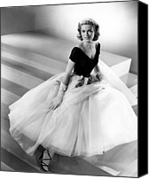 Tulle Canvas Prints - Rear Window, Grace Kelly, 1954 Canvas Print by Everett