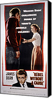 1955 Movies Canvas Prints - Rebel Without A Cause, James Dean Canvas Print by Everett