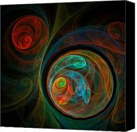 Colorful Print Canvas Prints - Rebirth Canvas Print by Oni H