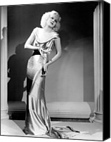 Satin Dress Canvas Prints - Reckless, Jean Harlow, In A  Dress Canvas Print by Everett