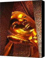 Unique Art. Photo Canvas Prints - Reclining Buddha Canvas Print by Oliver Johnston